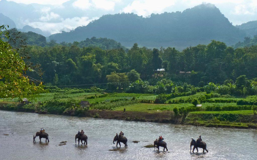 สำรวจวัดในพุทธศาสนาที่เก่าแก่และเดินเลียบไปตามแม่น้ำ Nam Ma
